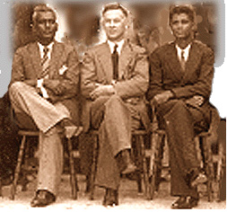 Mr. Sammy, Rev. Walls, Mr Bissessar, 1938
